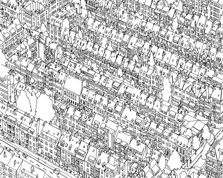 an extremely detailed coloring book for architecture lovers artistry curbed national - Detailed Coloring Books
